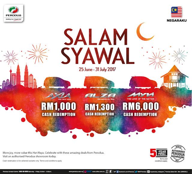 Promosi Perodua Bulan July 2017- Salam Syawal