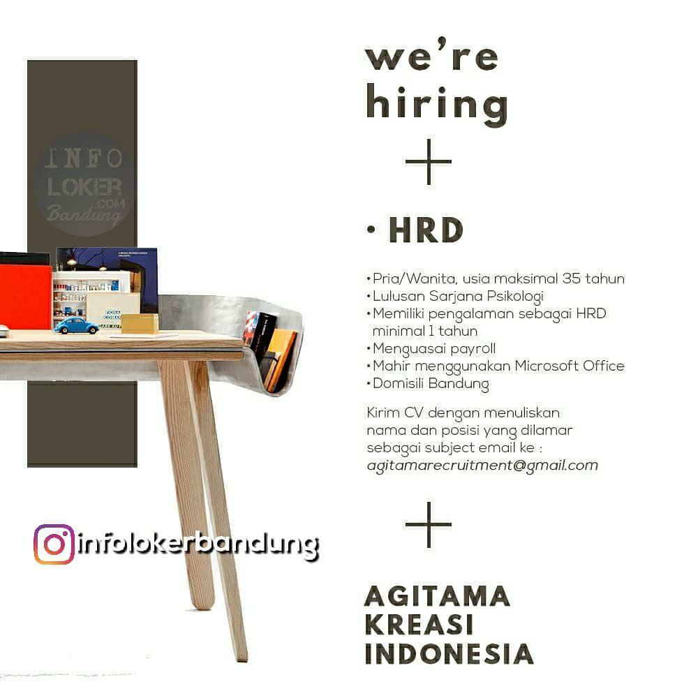 Lowongan Kerja CV. Agitama Kreasi Indonesia Juni 2018