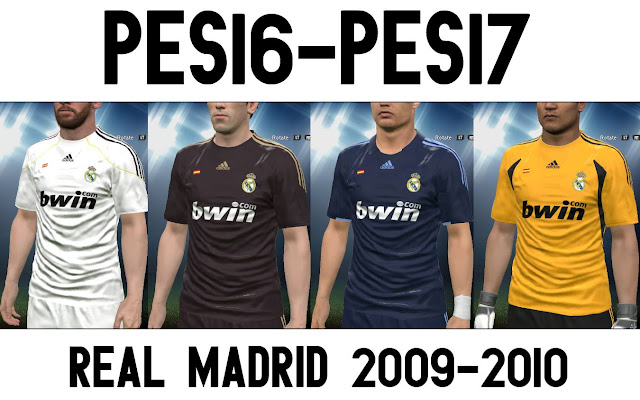 PES 2017 and 2016 Real Madrid Kit 09-10 by Mansyah