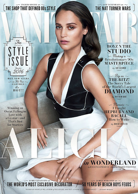 Actress, @ Alicia Vikander by Mario Testino for Vanity Fair September 2016