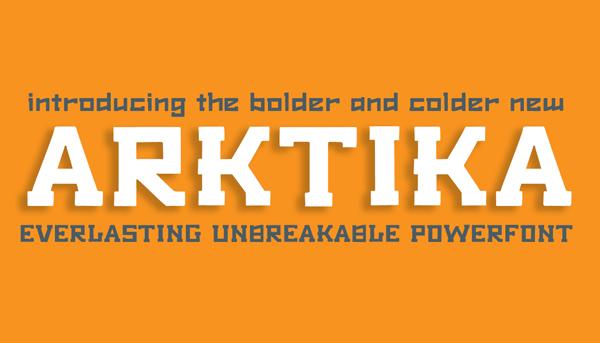 Font Terbaru Untuk Desain Grafis - Arktika Free Font