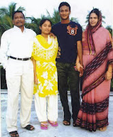 Sakib Al Hasan with his family
