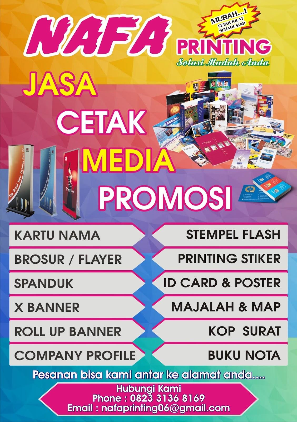 Nafa Printing Cetak Brosur Murah Di Jakarta Timur