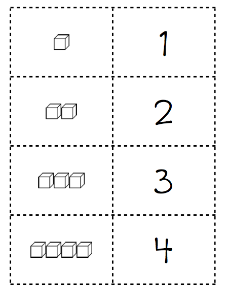 Base Ten Block Template. one two three math time place value cards ...