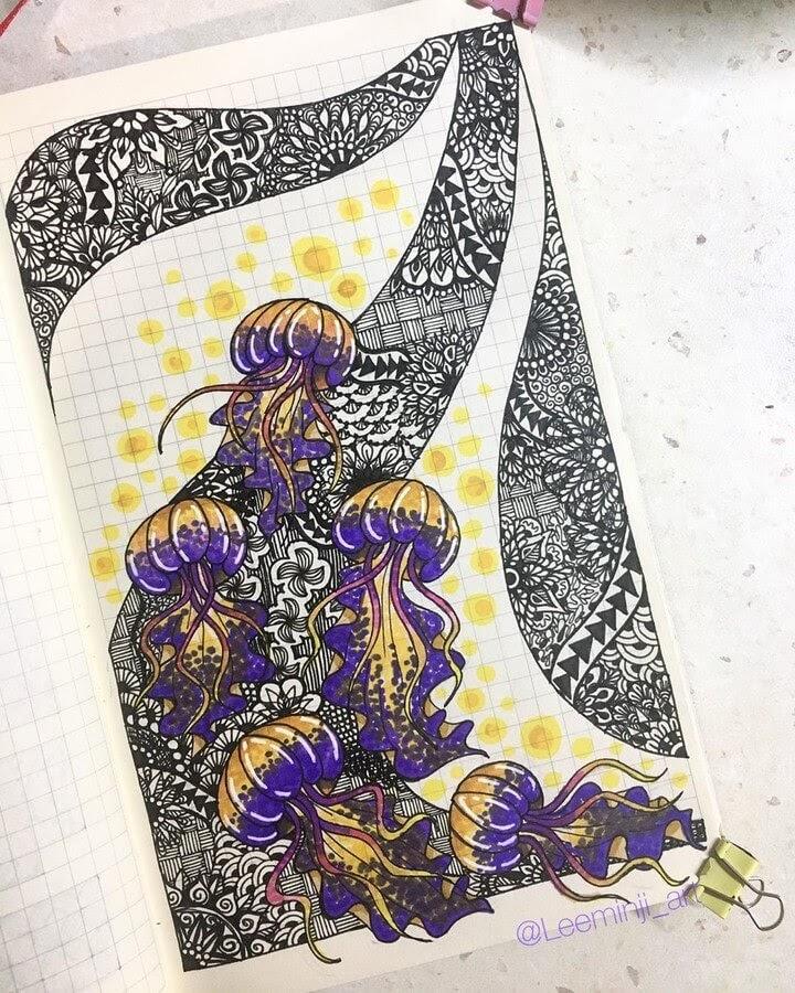 09-Purple-Jellyfish-Lidiia-Varichenko-www-designstack-co