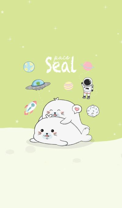 Seal cute Green.