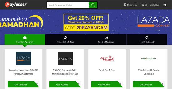 Paylesser Untuk Diskaun Beli Belah Online