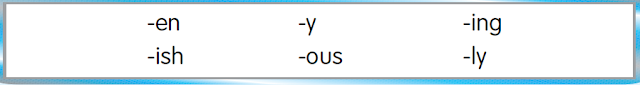 Soal Adjective Bentuk Akhiran Bagian Kedua