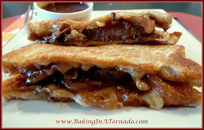 Crockpot BBQ Beef Grilled Cheese | www.BakingInATornado.com | #recipe #dinner