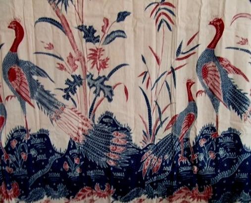 Gambar Batik Fauna Burung Merak