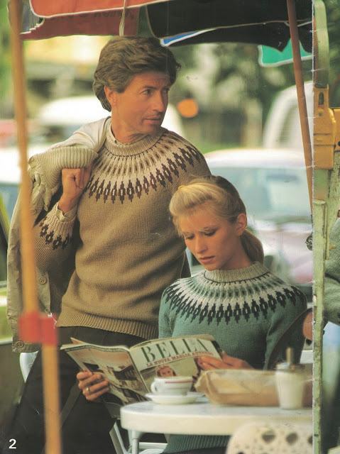 The Vintage Pattern Files: Free 1980s Knitting Pattern - Patons No. 671 Fair Isle Fashion for Ladies & Men