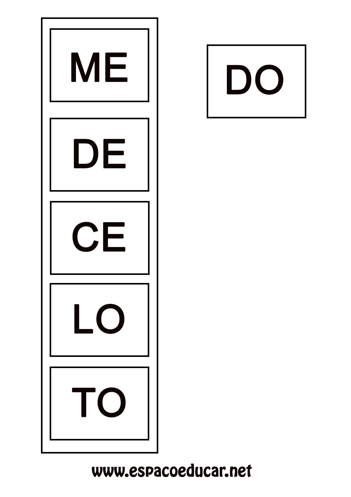 Atividade De Alfabetizacao Jogo Do Encaixe Para Formar Palavras
