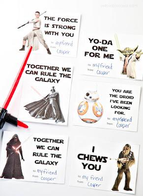 walentynki kartki diy gwiezdne wojny twobrokesisters