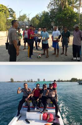 Kapolsek Badau IPTU Sugraito, SH,. Berkunjung ke Warga Pesisir Pulau Rengit