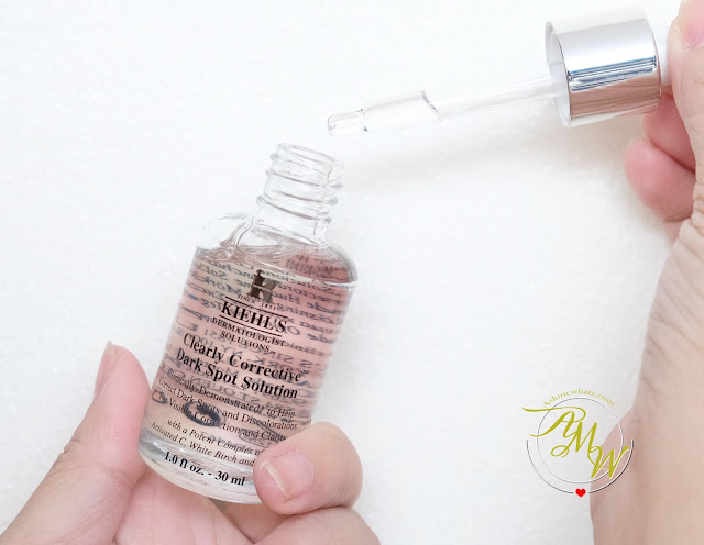 a photo of Kiehl's Clearly Corrective Brightening and Exfoliating Daily Cleanser, Clearly Corrective Brightening and Soothing Treatment Water and Clearly Corrective Dark Spot Solution review.