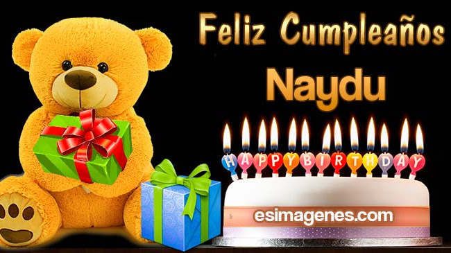 Feliz cumpleaños Naydu