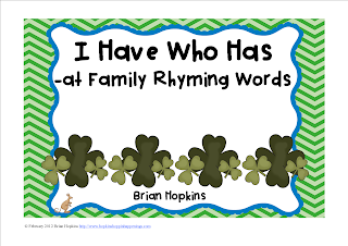 I Have, Who Has -At Family St. Patrick's Day FREEBIE