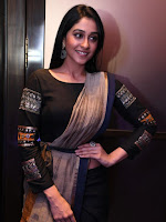 Regina Cassandra Hot Stylish Stills with Black Dress