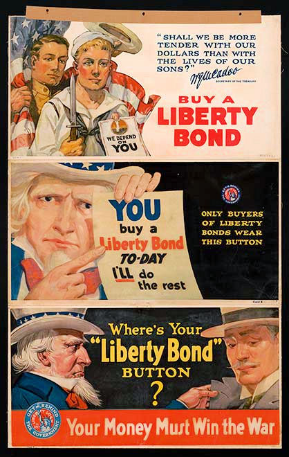 Vintage WWI Third Liberty Bond Button For War Efforts