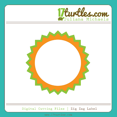 Zig Zag Label Free Digital Cutting File by Juliana Michaels