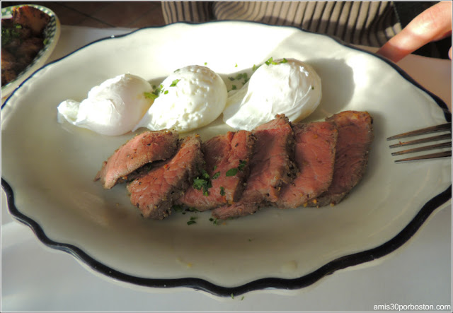 Beef Sirloin & Three Egg Platter $24