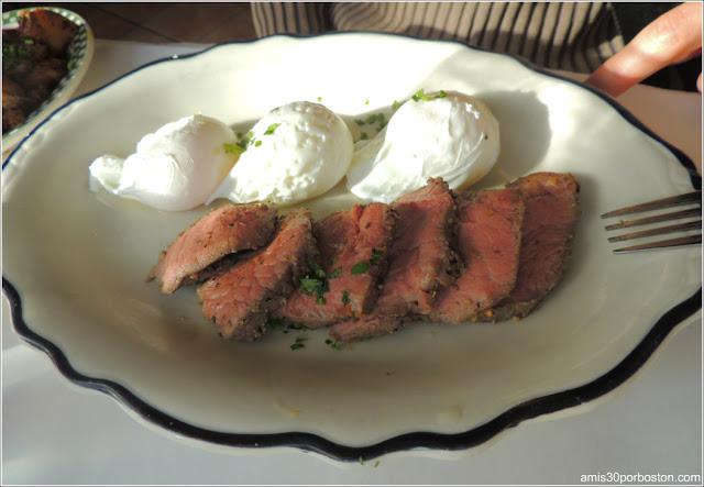 Beef Sirloin & Three Egg Platter $24