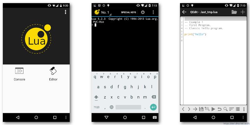 QLua v1.0.1 Lua 5.2.4 Untuk Android