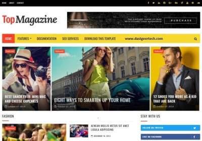 Top magazine blogger templates premium