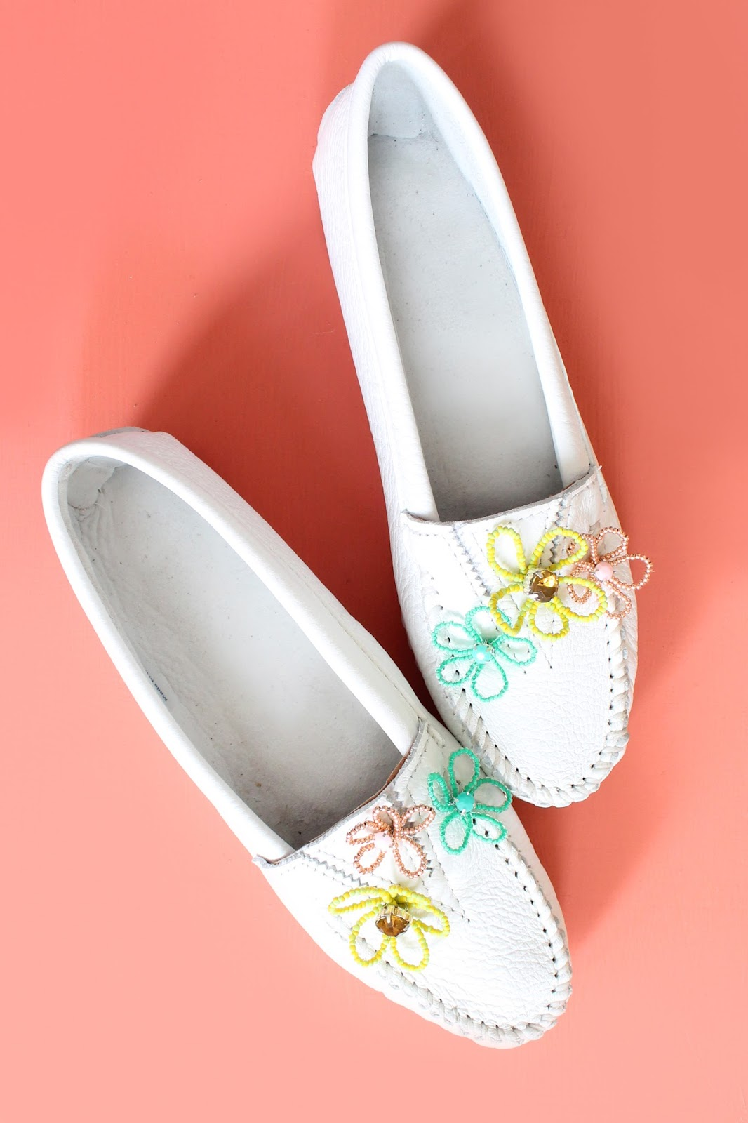 Make Floral Embellished Moccasins