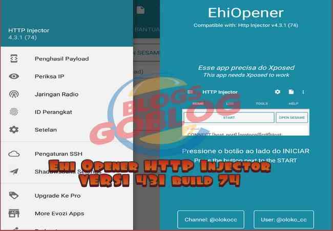 Cara Ehi Opener Sniff Apk HTTP Injector Versi 431 Build 74 Terbaru 2018