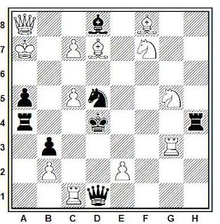 Problema de mate en 2 compuesto por S. Boros (2º Premio, Nepszava 25 T.T. 1937)
