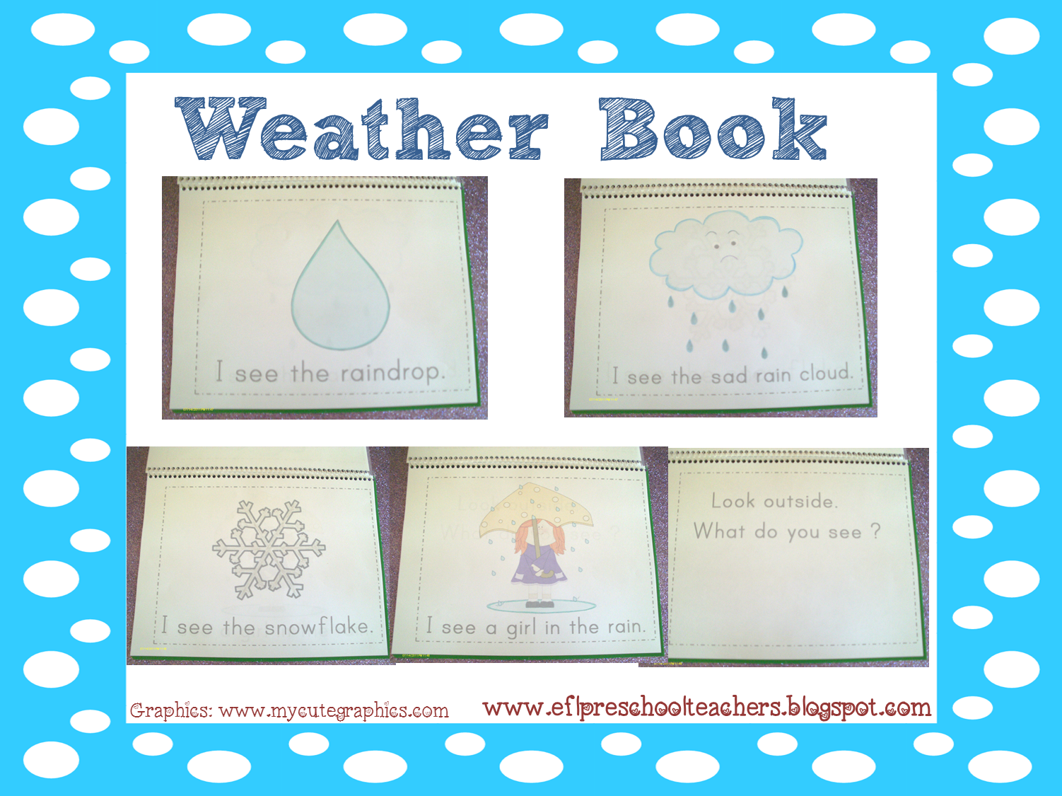 Esl Efl Preschool Teachers Weather Theme Resources For The Ell