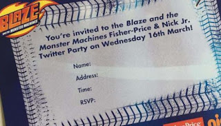 Blaze Machines Party Invite