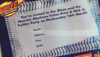 Blaze Machines Party Invite