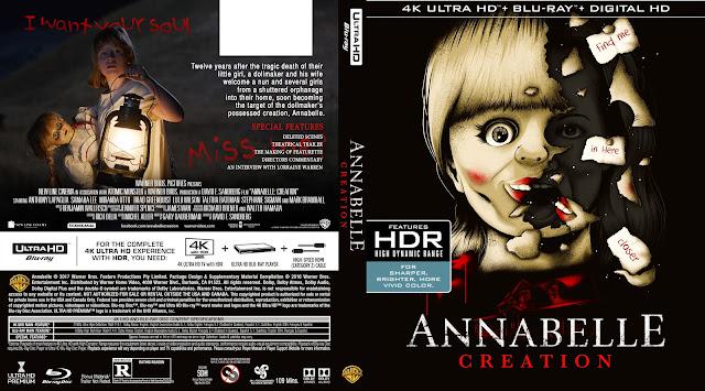 Annabelle: Creation 4K Bluray Cover