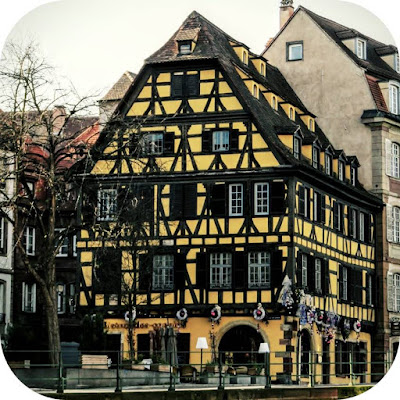 Celebrating Christmas in Strasbourg and Alsace - half-timbered building