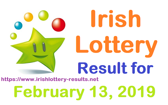 Irish Lottery Result for Wednesday, 13 February 2019