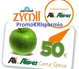 Logo Zymil ti fa vincere buoni spesa da 50 euro Alìper