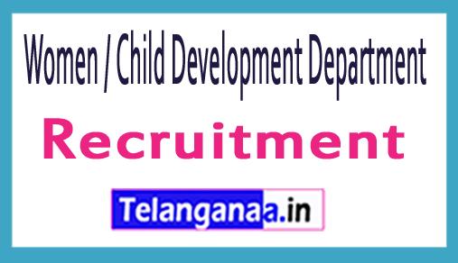 WCDD (Women And Child Development Department) Recruitment Notification