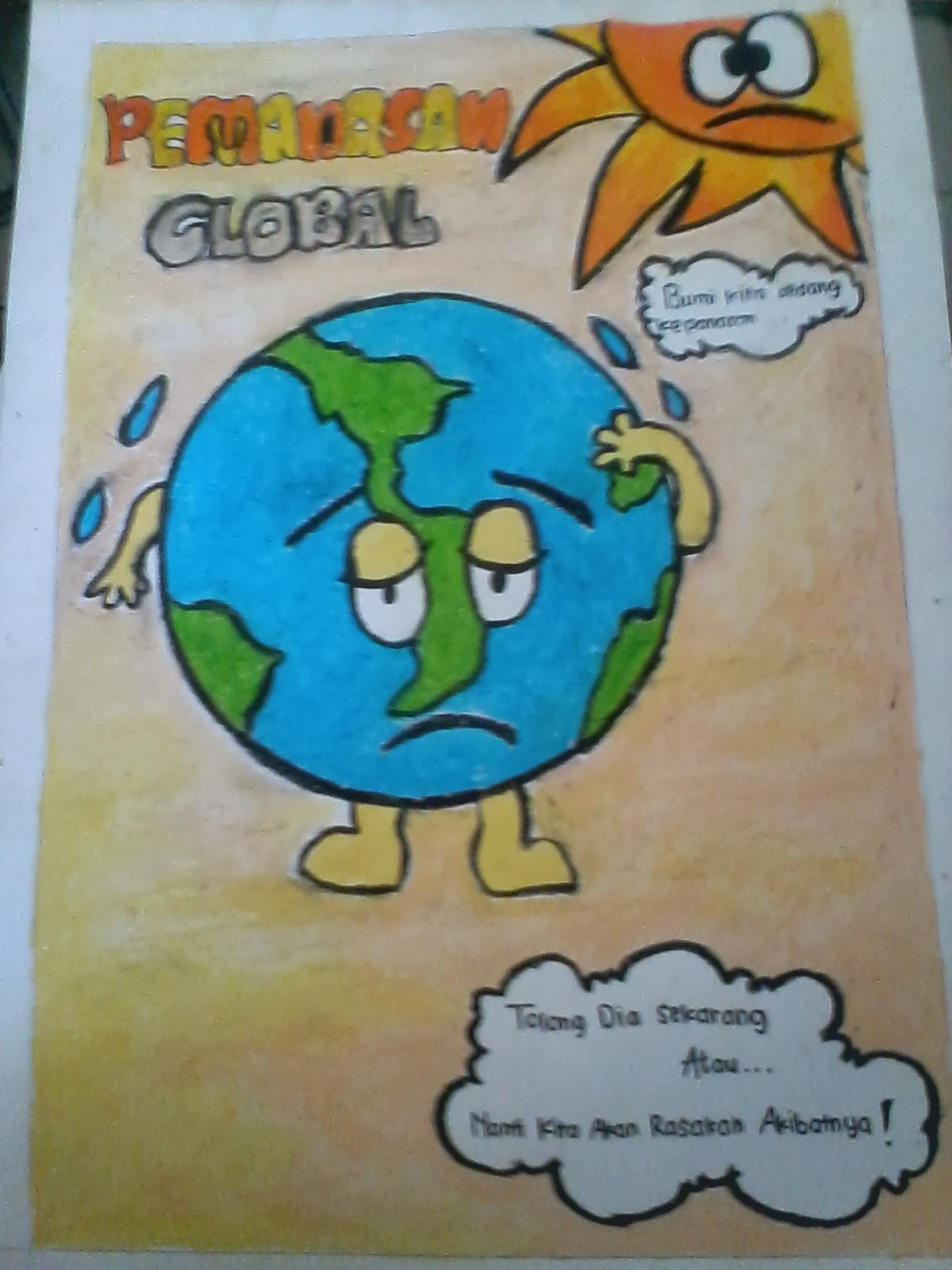Gambar Poster Pemanasan Global Kartun Laco Blog