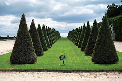 French formal garden style Palace de Versailles