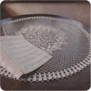 """Tapete """"Magnificencia"""" a Crochet"""