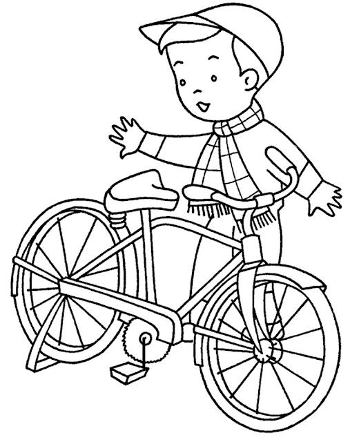 Gambar Mewarnai Bermain Sepeda - 7
