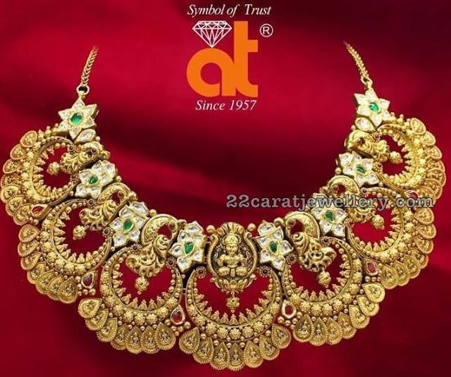Chandbali Style Kasu Lakshmi Choker