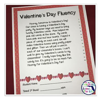Valentine Fluency Pyramids TPT