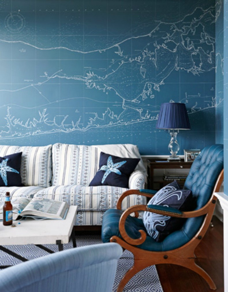 coastal map wall