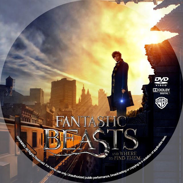 Fantastic Beasts And Where To Find Them DVD Label