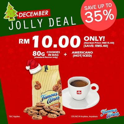 Famous Amos Malaysia Cookies in Bag & Americano Jolly Deal