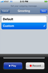 Betenbough homes it tips how to change voicemail greeting on iphone ensure custom is selected then click the record button your iphone should now be recording so say your greeting clearly at natural volume and tone m4hsunfo