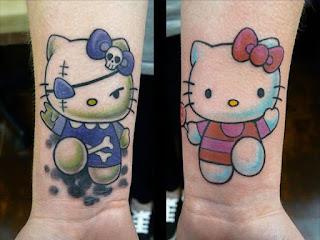 tato hello kitty di tangan